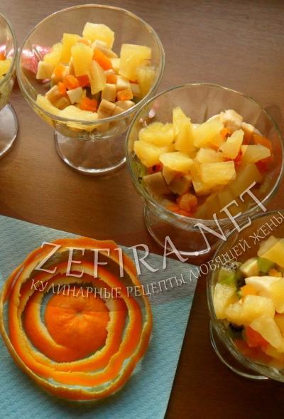 Рецепт фруктового десерта с фото