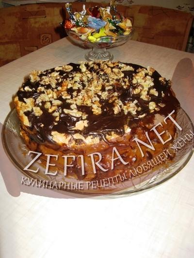 """Торт """"Воздушный сникерс"""" - рецепт с фото"""
