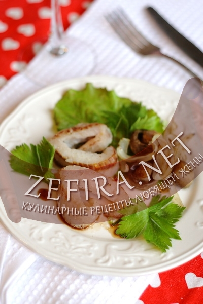 Рыбные сердечки с грибами (фото)