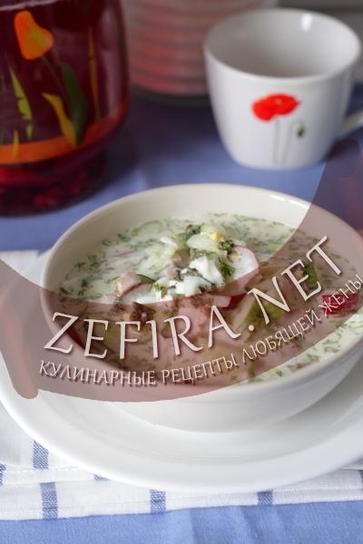 Холодный суп на кефире (фото)