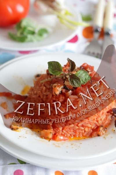 Рис в томатном соке (фото)