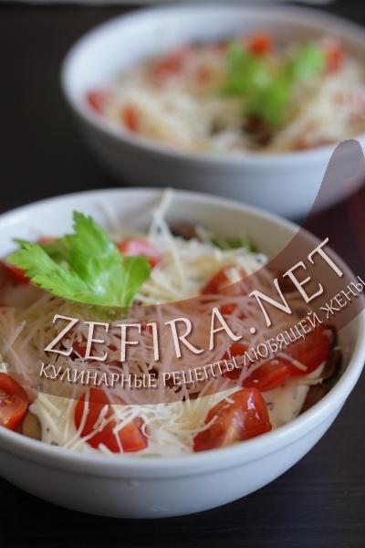 Салат с шампиньонами (фото)