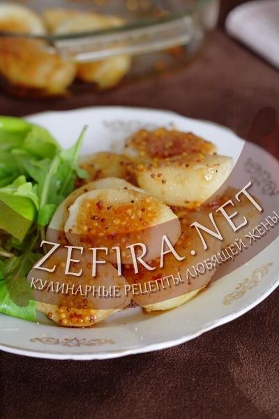 Медово-горчичный соус для картофеля (фото)
