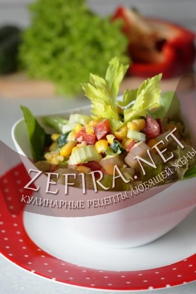 Овощной салат с сельдереем (фото)