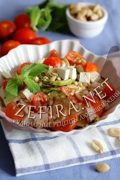 простые рецепты салатов с сыром фета