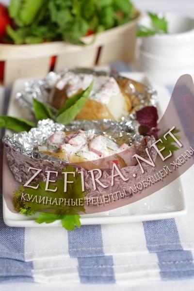 Картошка запеченная в фольге (фото)