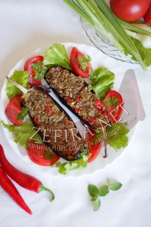 Рецепт фаршированный баклажанов (фото)