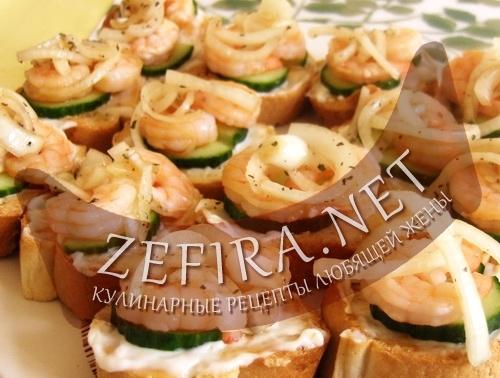 Бутерброды с креветками (фото)