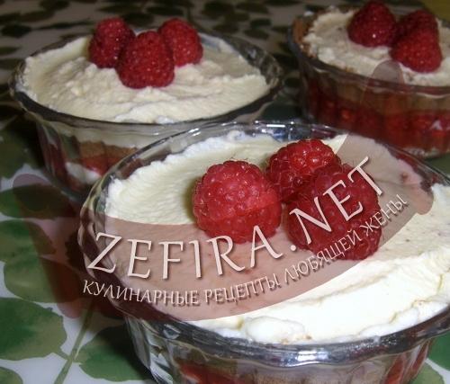 Десерт с малиной (фото)