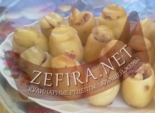 Картофель фаршированный (фото)