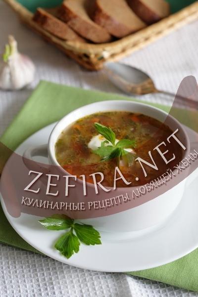Фасолевый суп (фото)
