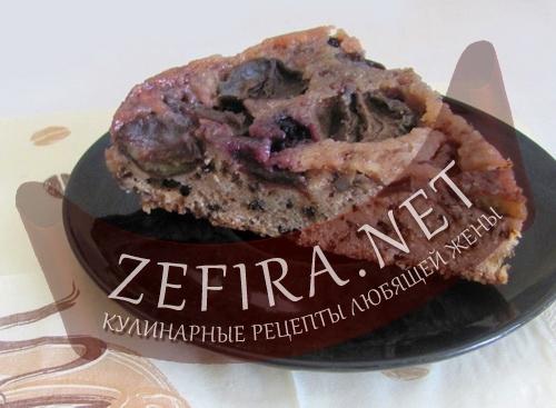 Сливовый пирог-перевертыш (фото)