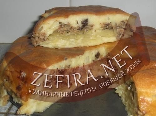 Рыбный пирог с картофелем рецепт.