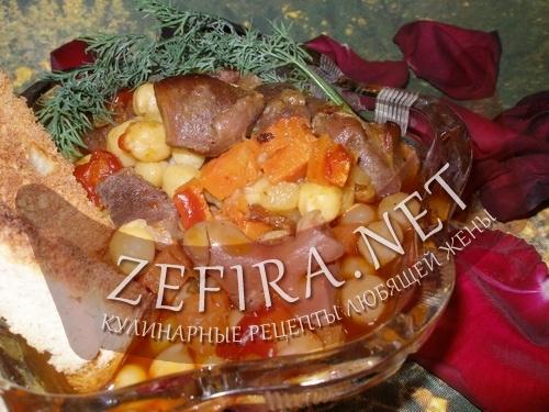 Горох с мясом (фото)