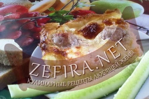 Картофельная запеканка с тефтелями (фото)
