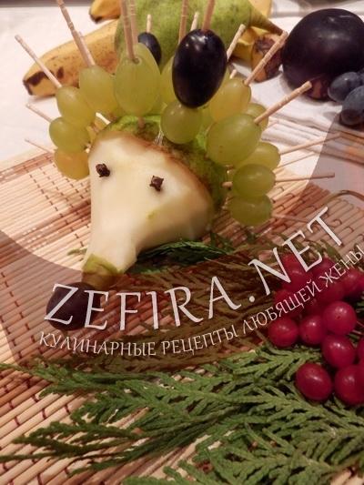 Оформление блюда с фруктами