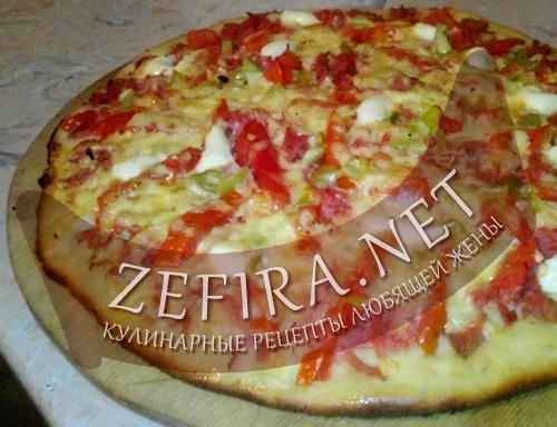 Рецепт приготовления домашней пиццы (фото)