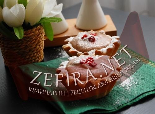 Пирожные из творога и шоколада (фото)