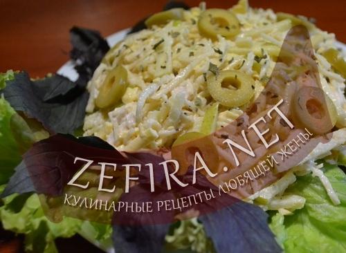 Салат из корня сельдерея с курицей (фото)