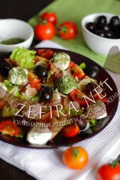 Салат из свежих овощей (фото)