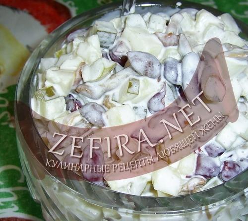 Салат с фасолью (фото)