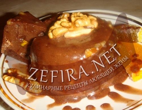 Десерт шоколадно-ореховый (фото)