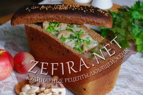Суп в хлебе (фото)