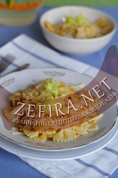 Макароны с соусом из тыквы (фото)