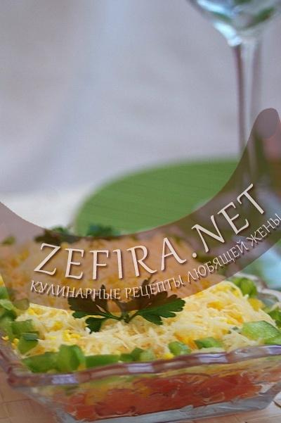 Салат-закуска из помидоров (фото)