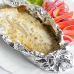 Запеченное филе рыбы под соусом