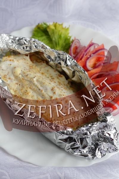 Запеченое филе рыбы под соусом - рецепт с фото
