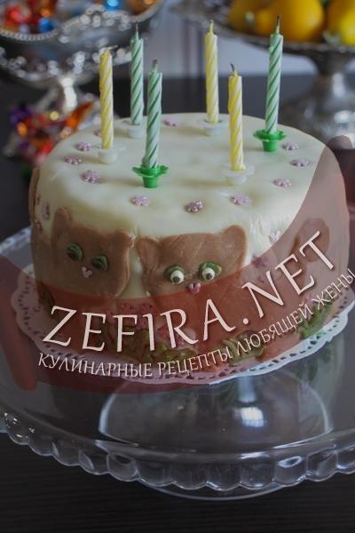 Детский торт с мастикой (фото)