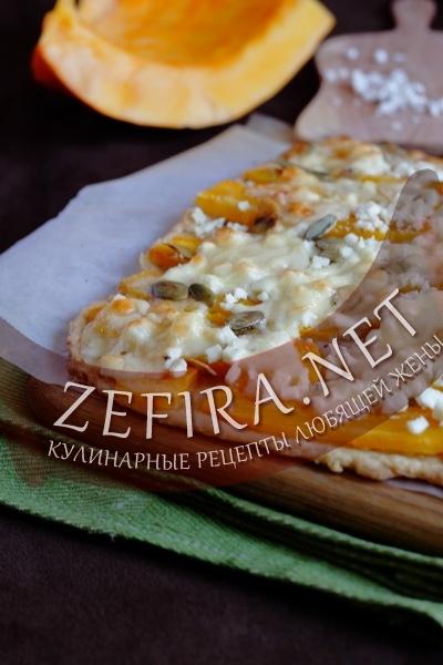 Пирог с тыквой и сыром (фото)
