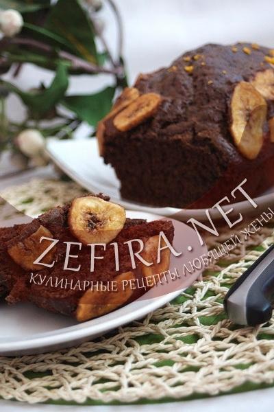 Простой рецепт шоколадно-бананового кекса (фото)