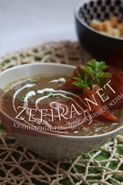 Суп-пюре из чечевицы (фото)