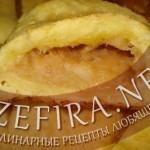 Булочки из творожного теста с яблоками