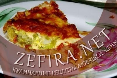 Луковый пирог с сыром (фото)