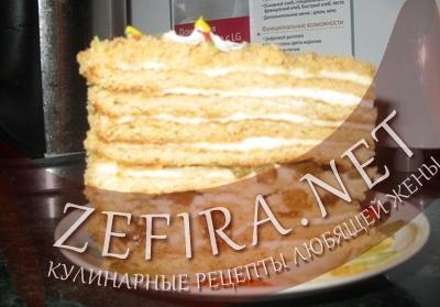 """Рецепт медового торта """"Рыжик"""" (фото)"""