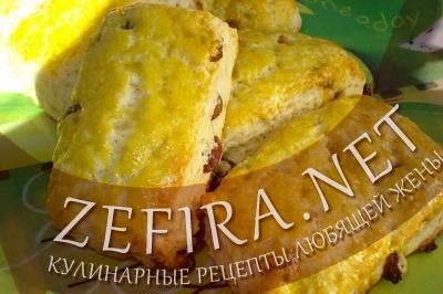 Сливочные булочки с изюмом (фото)