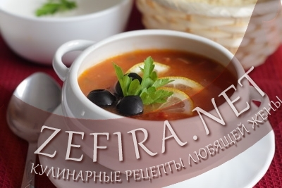 "Рецепт супа ""Солянка сборная мясная"""