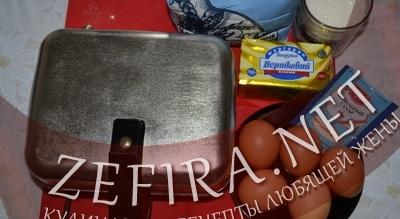 Ингредиенты для вафлей в электровафельнице