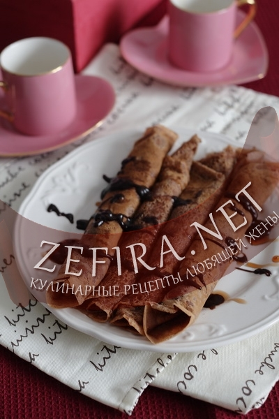 Шоколадные блинчики (фото)