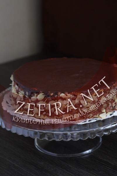 Торт из песочного теста с шоколадным кремом