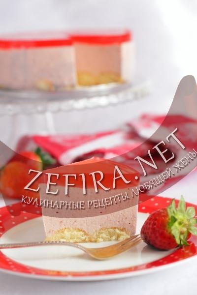Торт без выпечки с суфле (фото)
