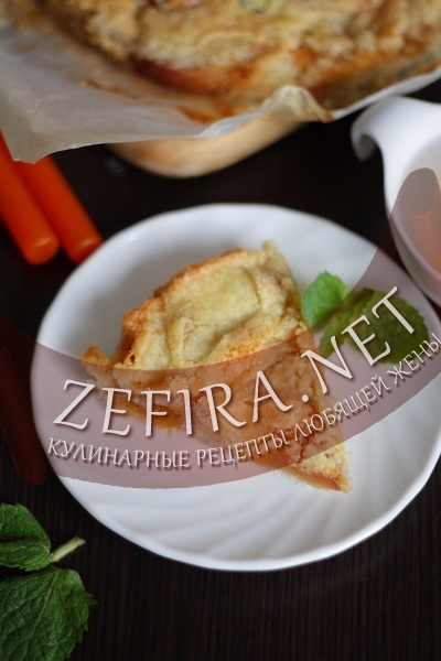 Пирог с персиками (фото)