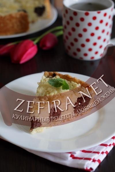 Пирог с маково-творожной начинкой