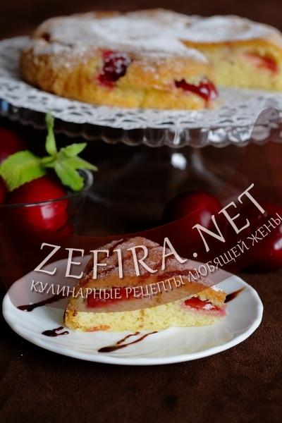 Пирог со сливой «Воздушный» в мультиварке