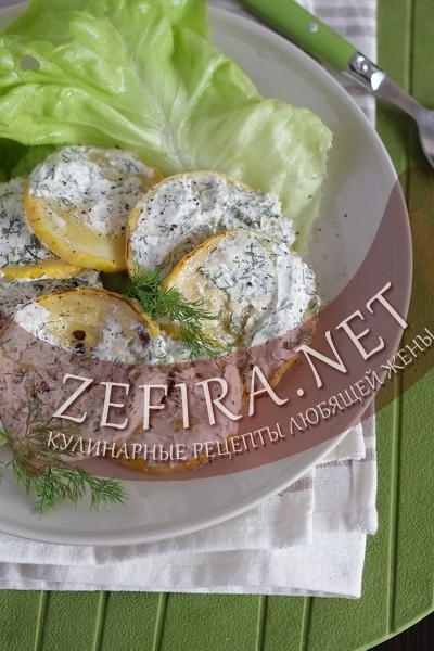 Кабачки в сметанном соусе - рецепт и фото