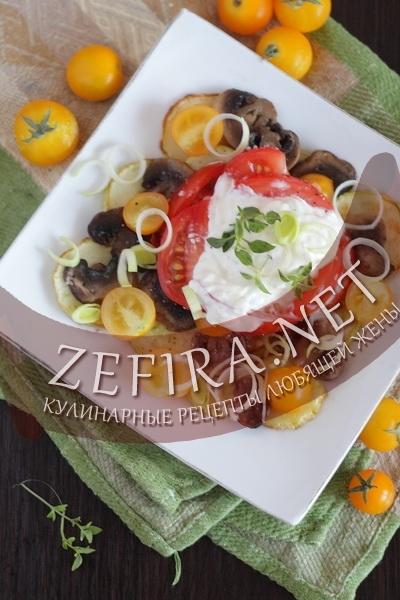 Салат из кабачков и помидоров