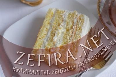 Бисквитный торт с тыквой